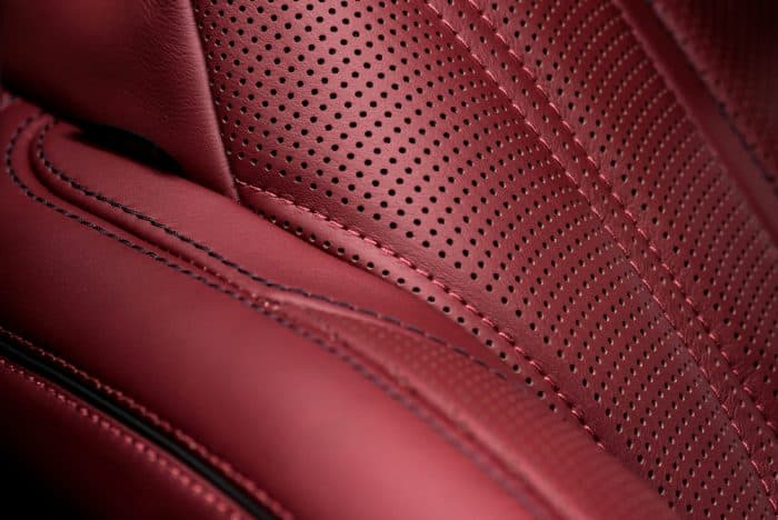 Italian Leather Car Seat Interior