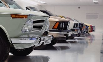 cars displayed at dealership