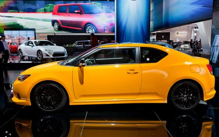 Yellow Scion TC Coupe