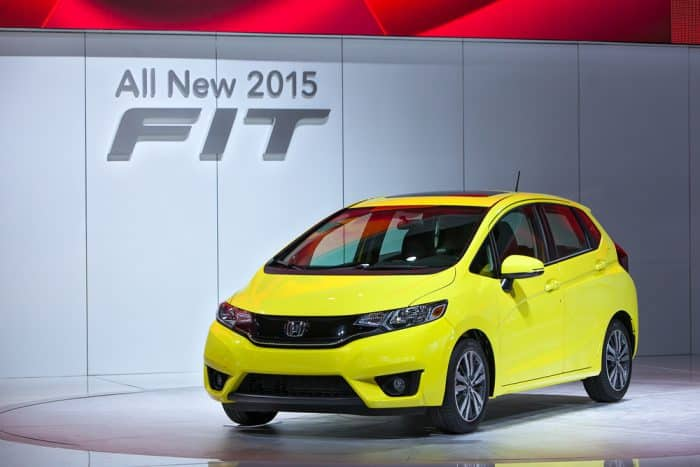 Honda Fit Yellow 2015
