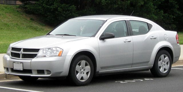 Silver Dodge Avenger