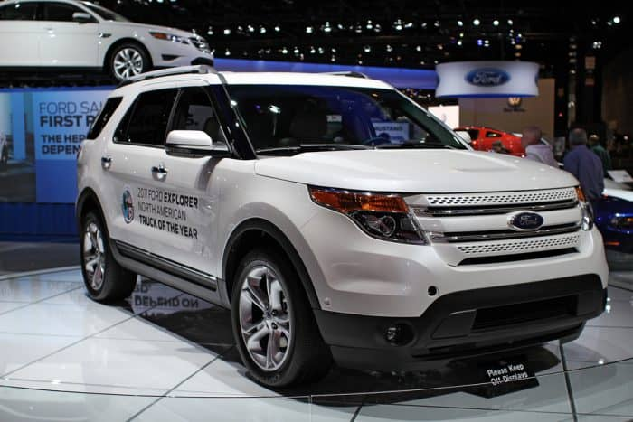 Brand New White Ford Explorer
