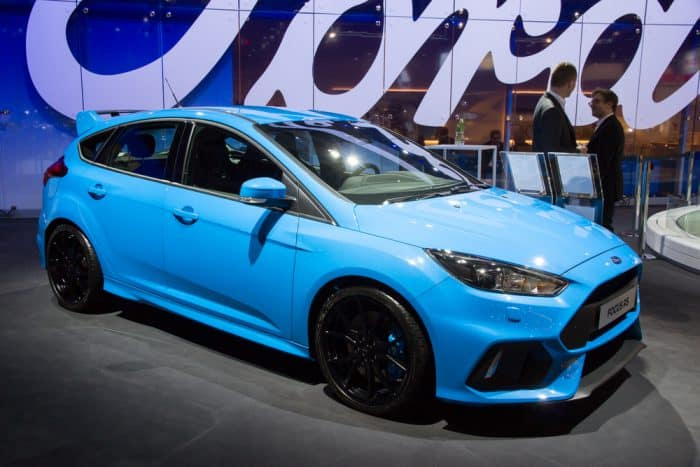 Blue Ford Focus Sport