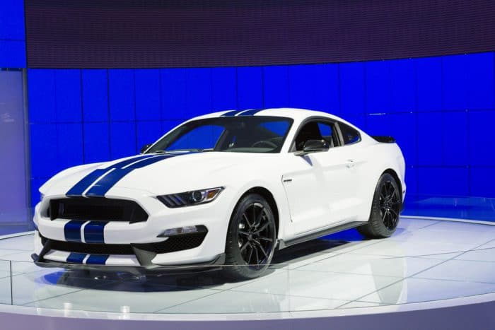 White Ford Mustang Sport Car