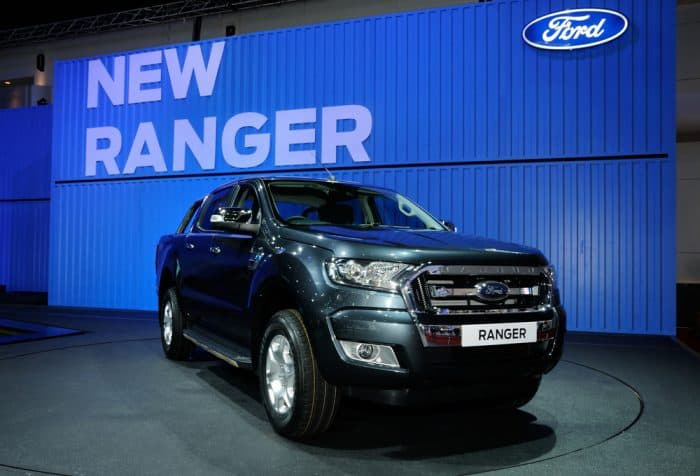 New Blue Ford Ranger Pickup
