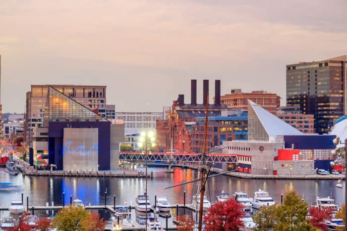 Baltimore Harbor at Sunset