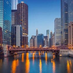Chicago Illinois by River