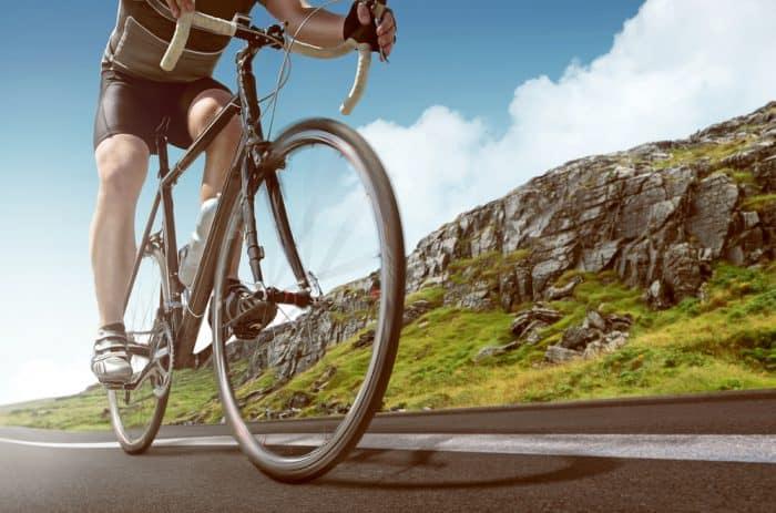bicyclist on roads