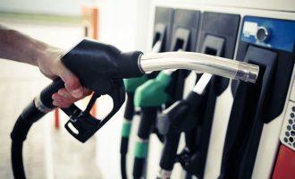 gas station pump filling car