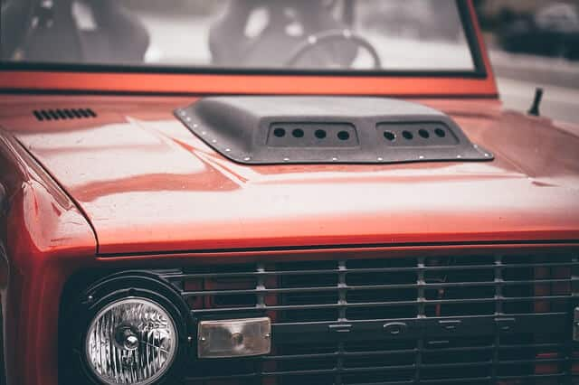 Red Ford Pickup Truck