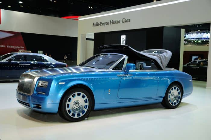 Blue Rolls Royce Drophead