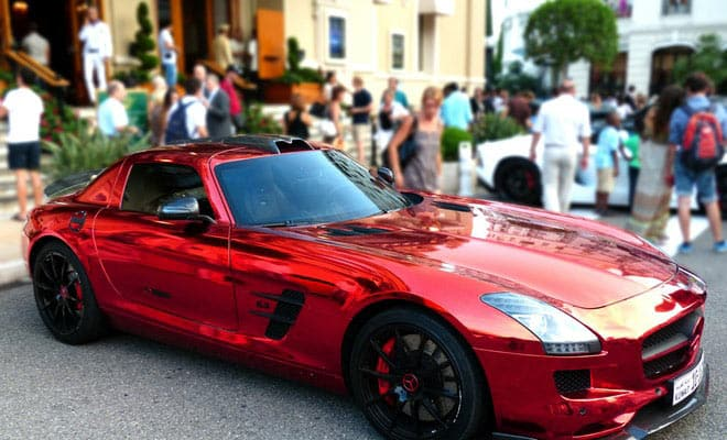 real expensive sports car red