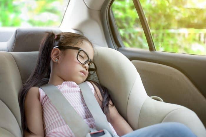 three year old in car seat