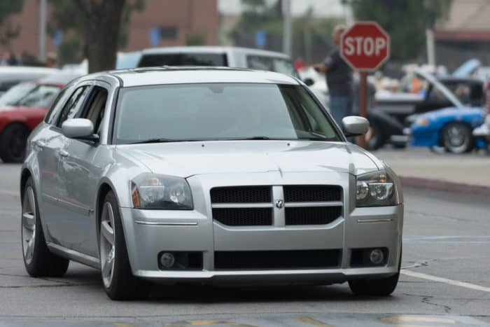 Silver Dodge Magnum Luxury Sedan