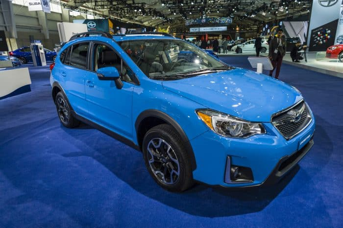 blue subaru crosstek