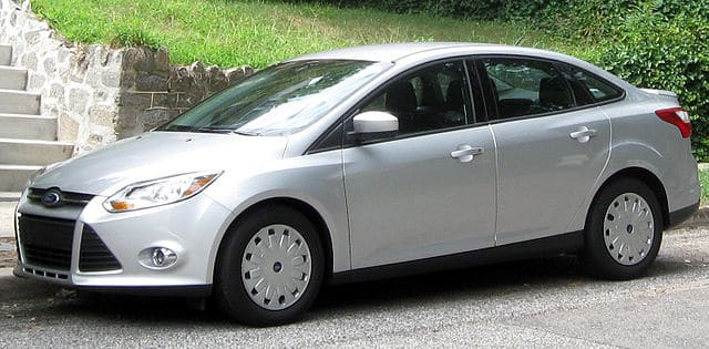 Silver Ford Focus 2012