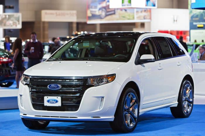 White 2013 Ford Edge