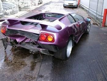 Missy Elliot Wrecked Lamborghini