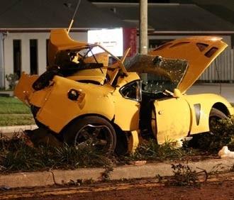 Nick Hogan Car Crash Toyota Supra