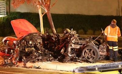 Paul Walker Crash Porsche Carrera GT
