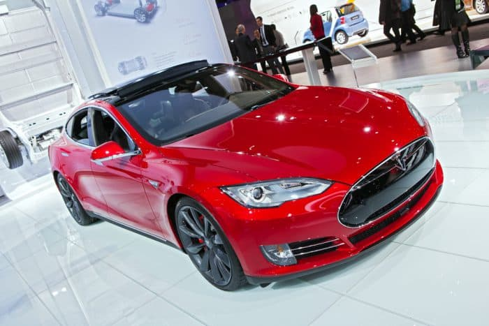 Tesla S Red Brand New