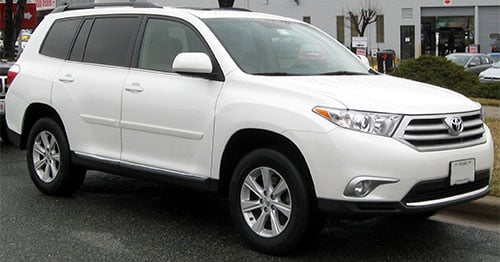 SUV comparison Toyota Highlander