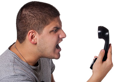 Angry Man on Insurance Call