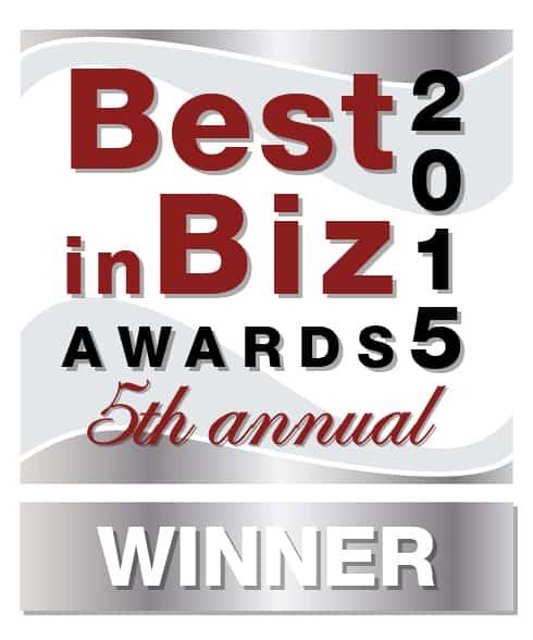 Best in Biz Award Silver Winner Compare.com