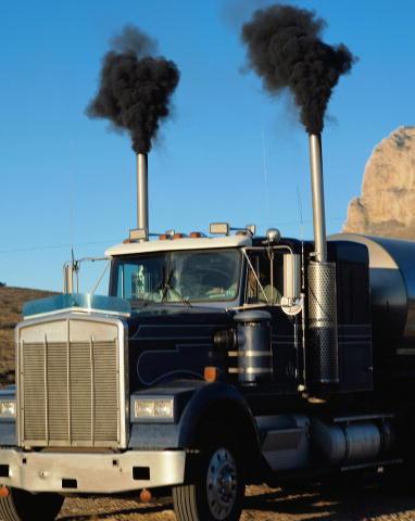Diesel car smoke