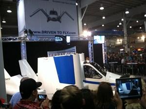 flying car on ground