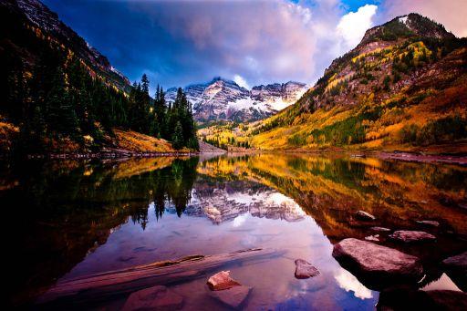 Autumn Leaves Glacier National Park