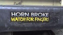 horn broke