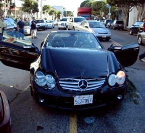 lindsay lohan mercedes car wreck