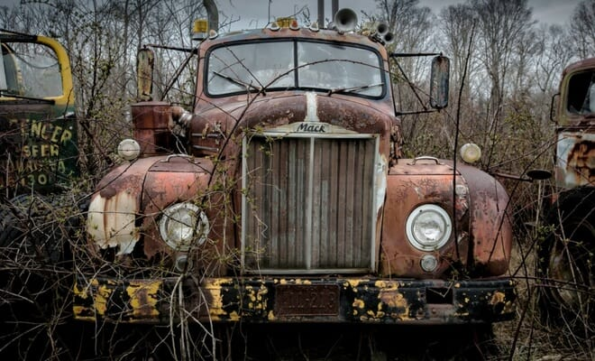 Old truck total loss