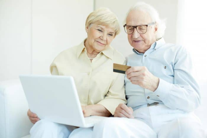 old couple with senior discount