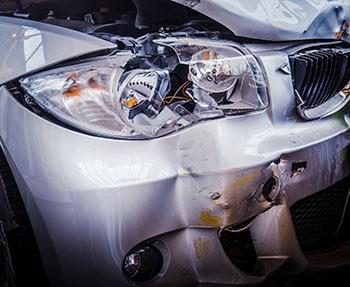smashed headlight