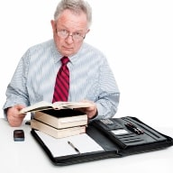 Lawyer Type Professional Man Researching Books