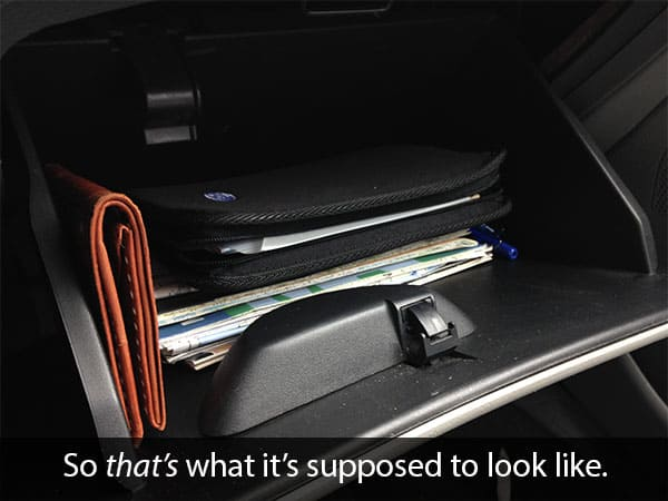 clean glove compartment