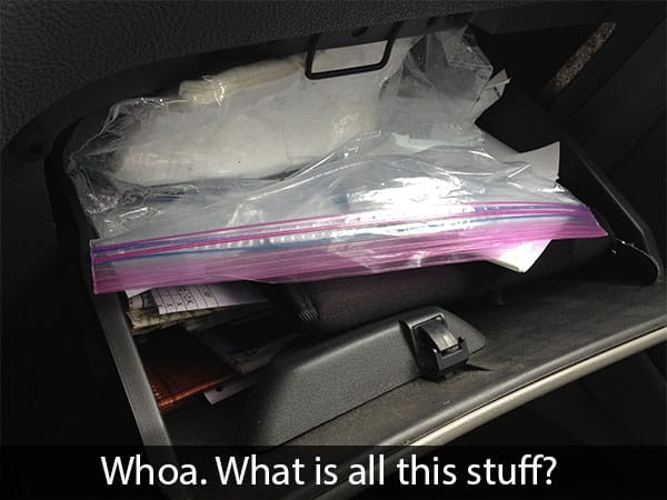 messy glove box
