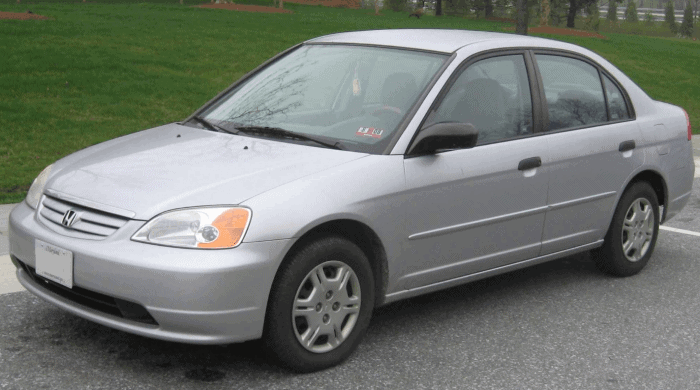 2001 silver honda civic