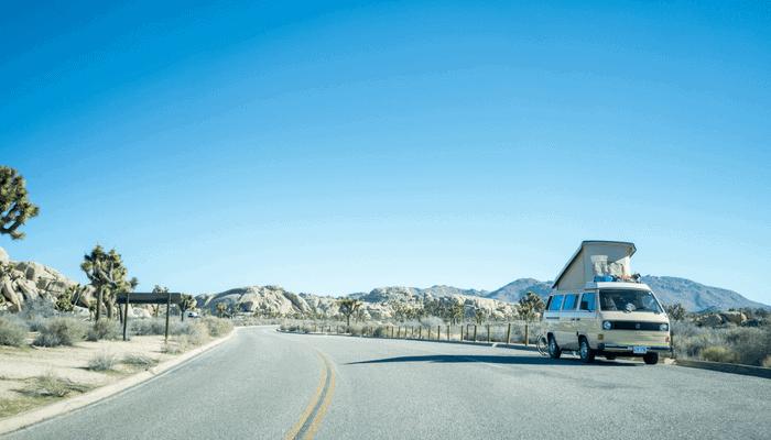 van in the desert
