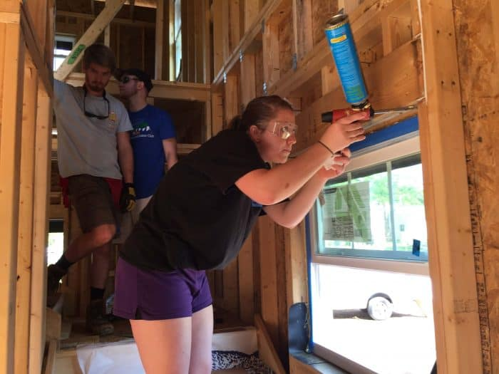 Caulking windows Habitat for Humanity
