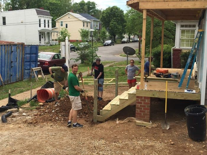 Habitat for Humanity building a staircase
