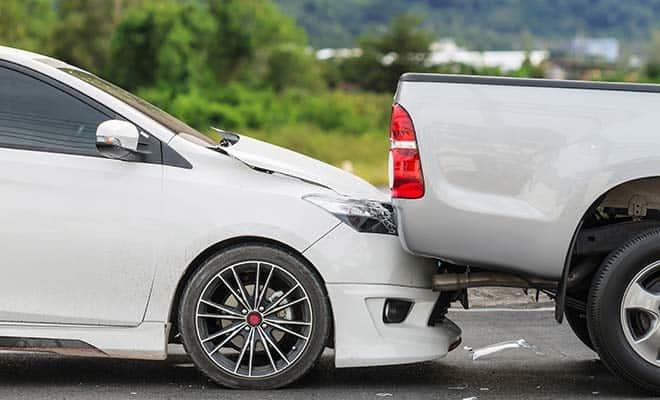 uninsured motorist crashes car