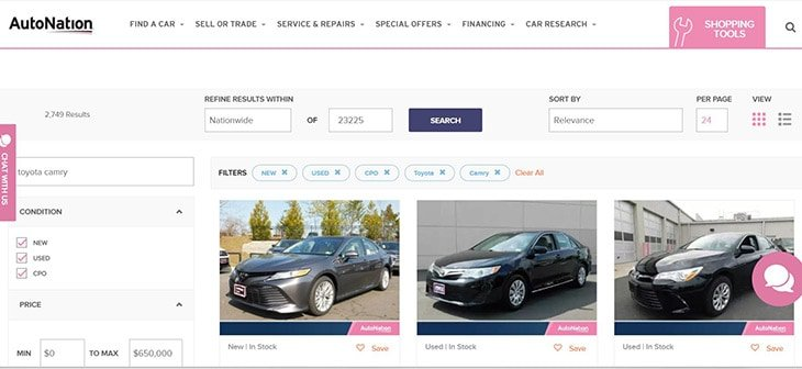 autonation review of car buying process