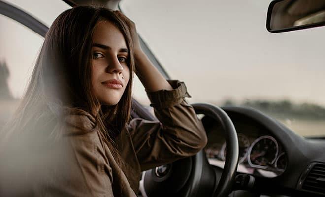 female new driver