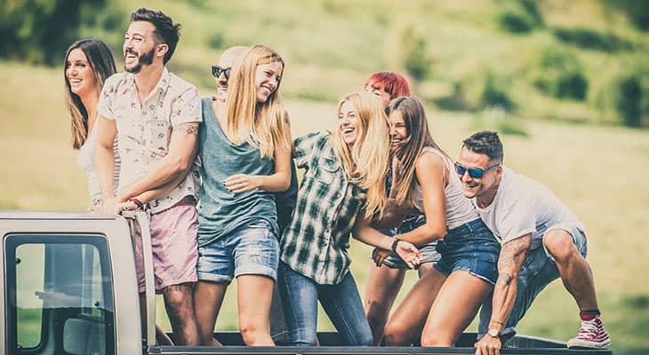 millennial on a truck