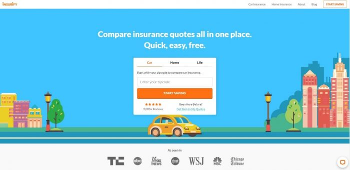 Insurify's homepage