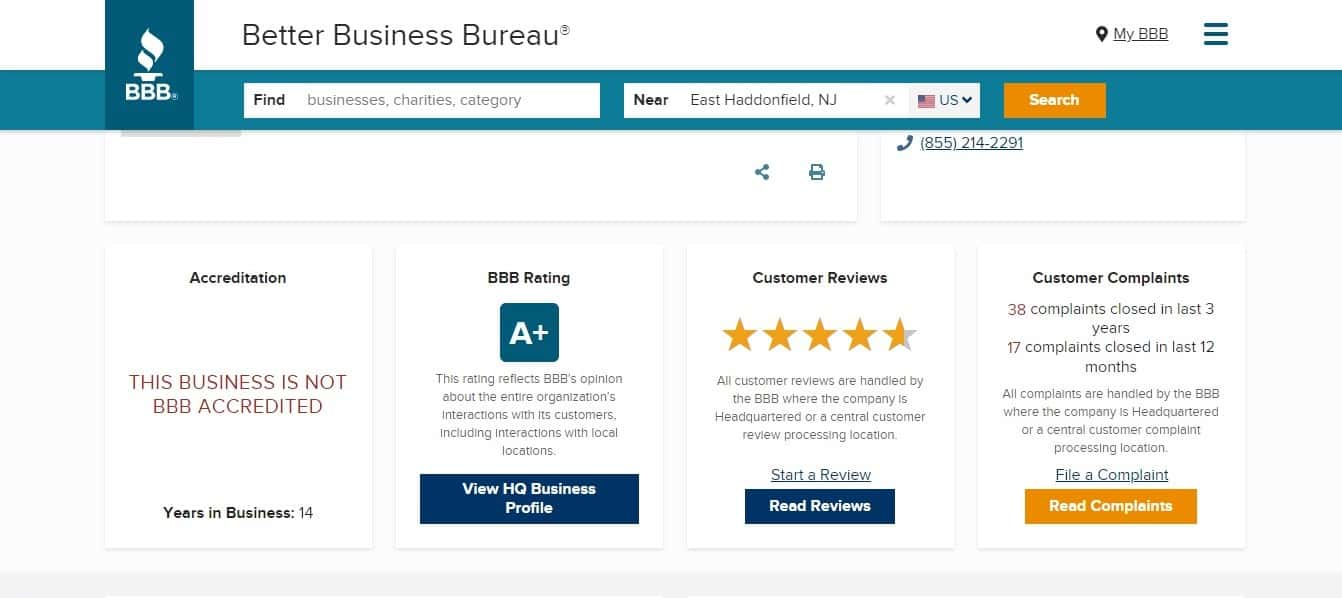 BBB gives SmartFinancial positive reviews