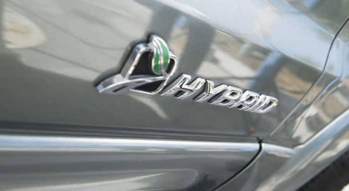 Hybrid car badge